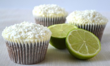 Chocolate Lime Cupcakes with coconut Lime Buttercream by Julie's Kitchen