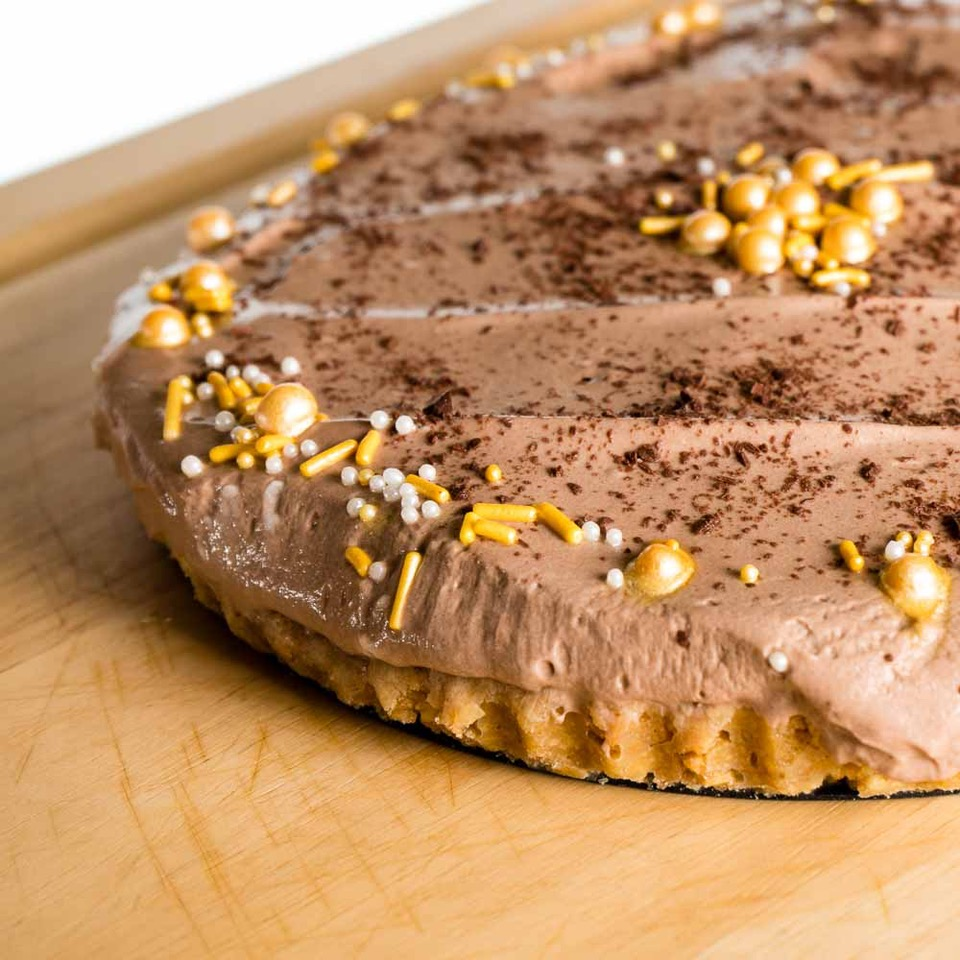 Chocolate Orange No Bake Cheesecake