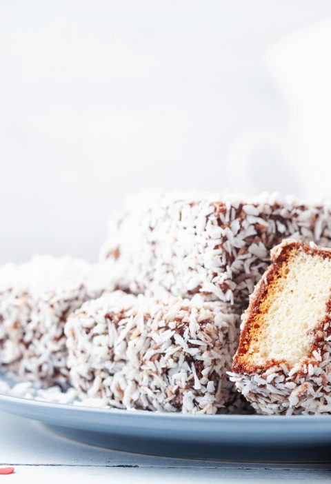 Coconut Lime Lamingtons