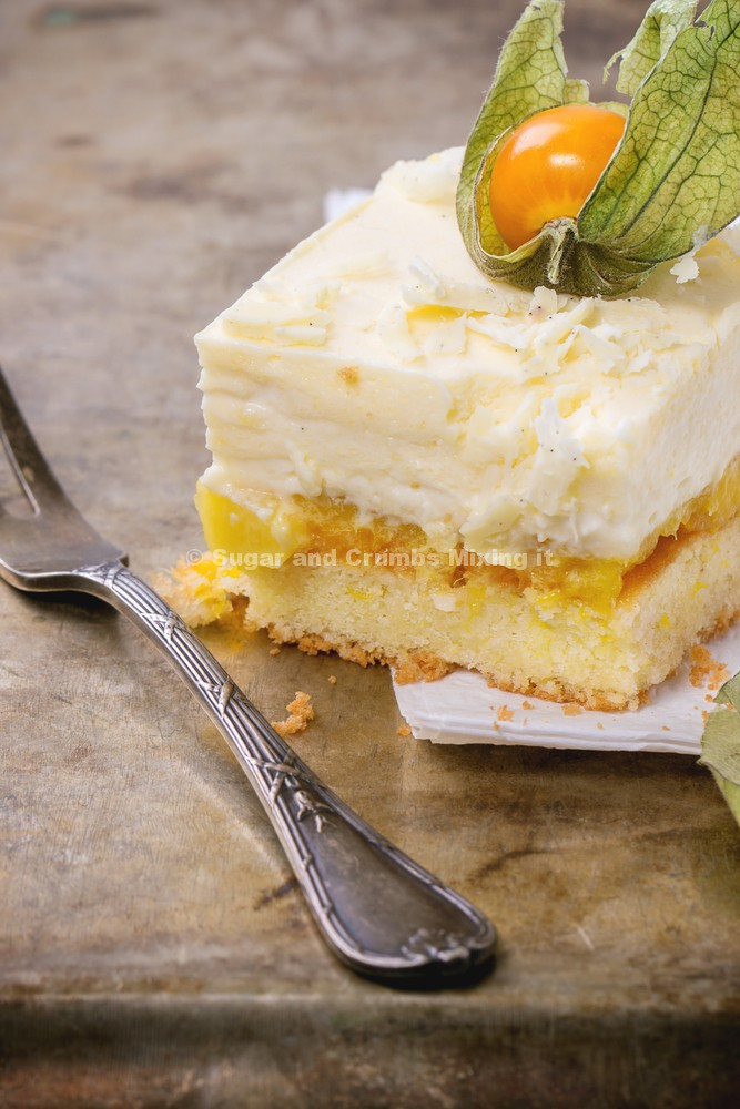 mango and passionfruit mousse cake