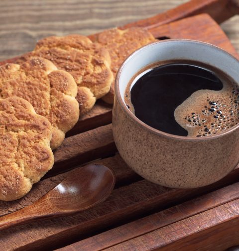 Coffee and Almond Shortbread