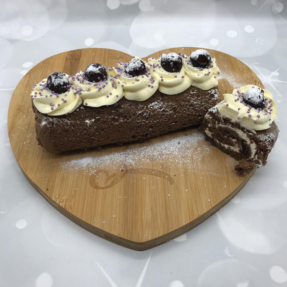 Black Cherry Chocolate Swiss roll