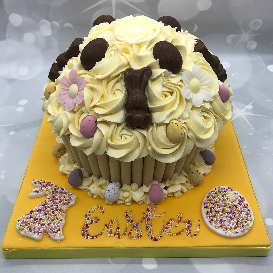 Easter Themed Giant Cupcake